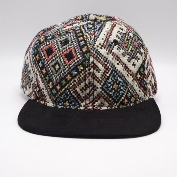 ab66d5a5f Tapestry Faux Suede Flat Bill Multi-Color Hat Cap Boutique